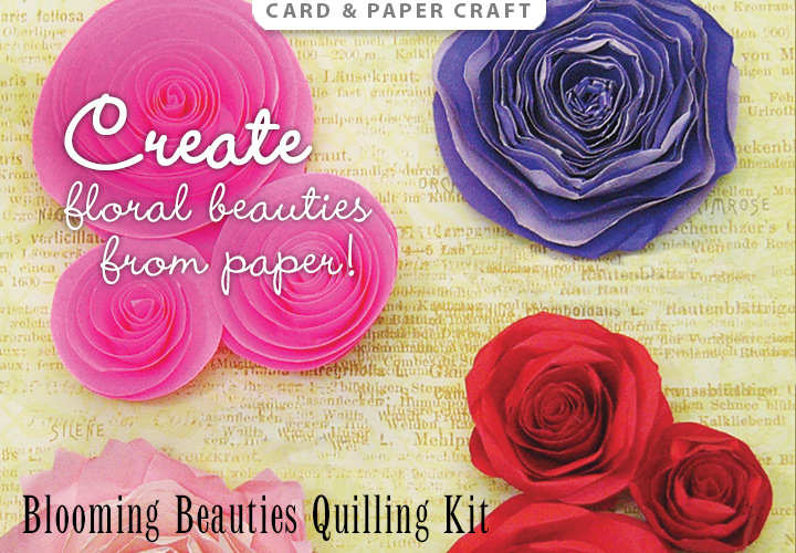 Blooming Beauties Quilling Kit -- Create beautiful paper flowers!