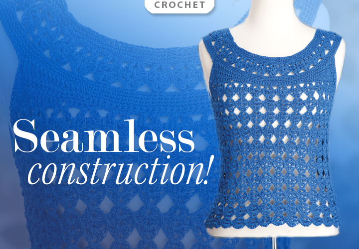 Marilyn Crochet Top Pattern -- Seamless Construction