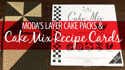Cake Mix Recipe Cards & Layer Cake Packs