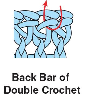 Back Bar of Double Crochet