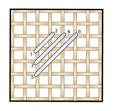 Diagonal Satin Stitch